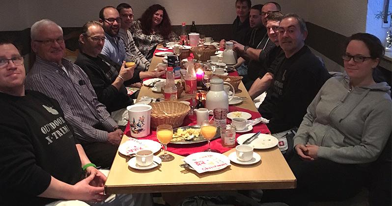 Weihnachtsfrühstück mit dem SCHWEBACH-Team