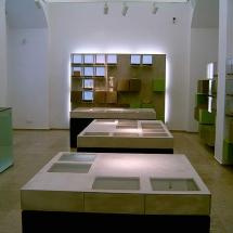 Landesmuseum Trier: Gestaltung der Garderoben Elemente mit mineralischer Spartelmasse auf Zement-Kunststoff-Basis