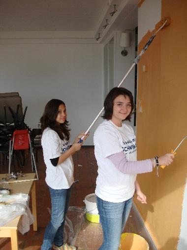 Hannah und Karin beim Girls'Day 2011