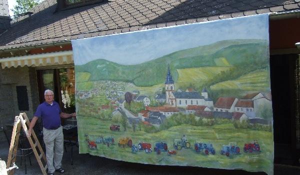 Hans Schwebach malt für Oldtimer-Freunde