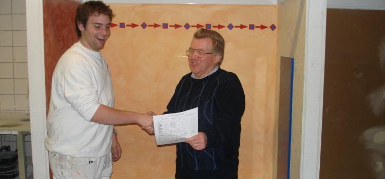 Lukas Schwebach – in zweieinhalb Jahren zum Malergesellen