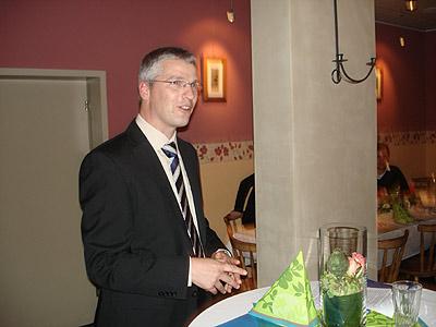 """Arno Meyer beim Vortrag """"Erfolgreich Meistern"""""""