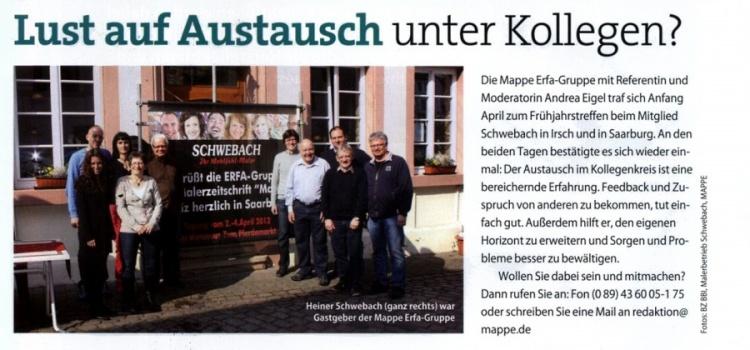 """Presseartikel in """"Der Mappe"""" (Ausgabe: Mai 2012)"""