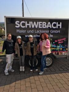 Girls'Day 2017 - Susan und Hiltrud mit unseren beiden Mädels