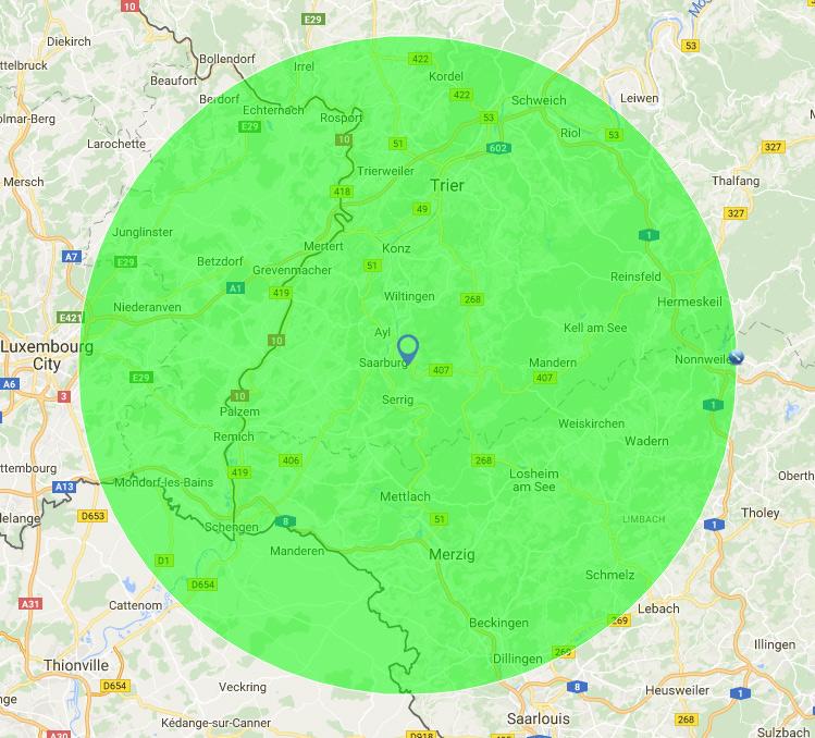 30 km-Radius