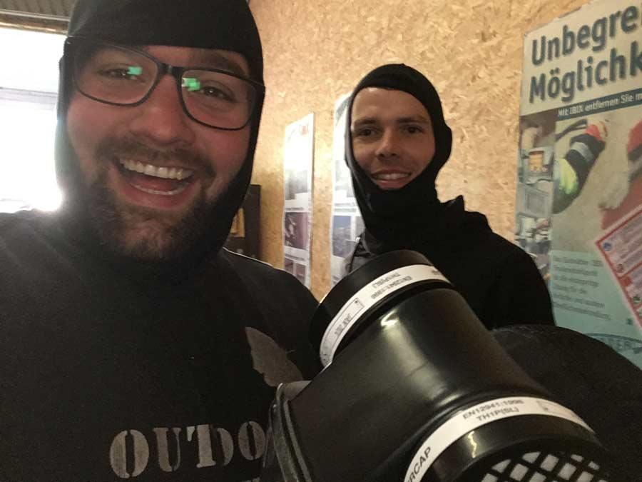 Lukas und Oliver - Profis im Strahlen