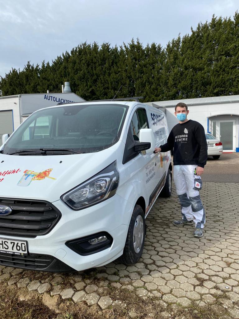 Oliver Weiler mit dem Ford Transporter