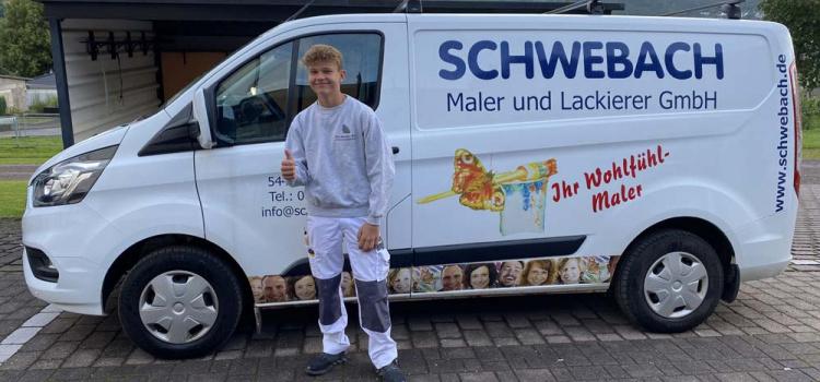 Tim Thielen – erster Arbeitstag als Azubi im Schwebach-Team